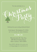 Holiday Party Invitations - sweet christmas