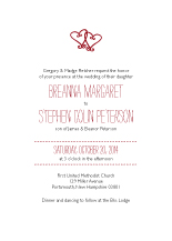 Wedding Invitations - two hearts