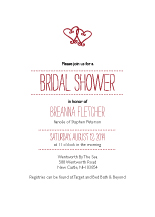 Wedding Shower Invitation - two hearts