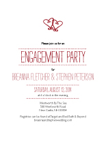 Engagement Party Invitation - two hearts