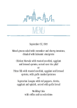 Menu - new york love
