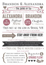 Wedding Invitations - story of us