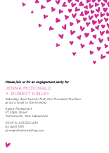 Engagement Party Invitation - raining hearts