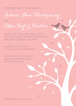 Wedding Invitations - love birds