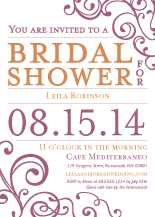 Wedding Shower Invitation - happiness & joy