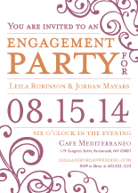 Engagement Party Invitation - happiness & joy