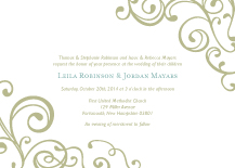 Wedding Invitations - happiness & joy