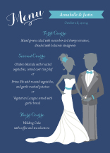 Menu - the bride & groom