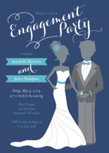 Engagement Party Invitation - the bride & groom