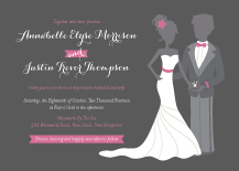 Wedding Invitations - the bride and groom