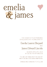 Wedding Invitations - heart of gold