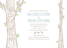 Wedding Invitations - carved tree
