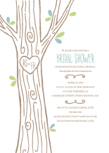 Wedding Shower Invitation - carved tree