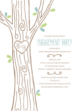Engagement Party Invitation - carved tree