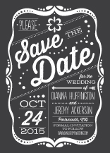 Save the Date Card - framed love