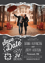 Save the Date Card with photo - framed love