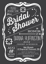 Wedding Shower Invitation - framed love