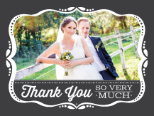 Wedding Thank You Card with photo - framed love