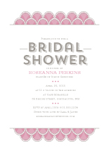 Wedding Shower Invitation - art deco scales