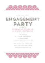 Engagement Party Invitation - art deco scales