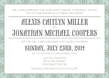 Wedding Invitations - medallion