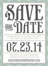 Save the Date Card - medallion