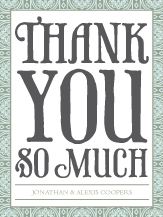 Wedding Thank You Card - medallion