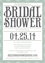 Wedding Shower Invitation - medallion