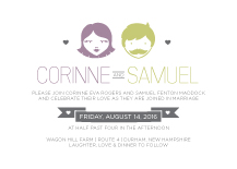 Wedding Invitations - you and me