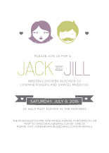 Wedding Shower Invitation - you and  me