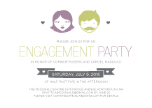 Engagement Party Invitation - you and  me