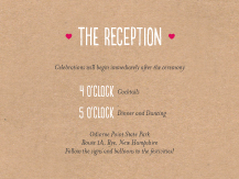 Reception Card - carved monogram