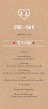 Wedding Program - carved monogram