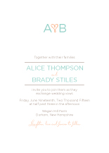 Wedding Invitations - heart monogram