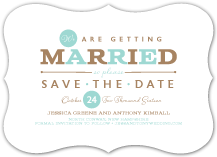 Save the Date Card - one and only