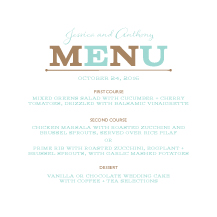 Menu - one and only