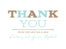 Wedding Thank You Card - one and only