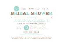 Wedding Shower Invitation - one and only