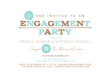 Engagement Party Invitation - one and only