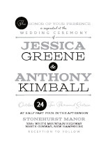 Wedding Invitations - one and only