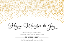 Holiday Cards - hope, wonder & joy