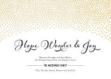 Holiday Cards - hope, wonder & joy