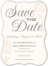 Save the Date Card - garden