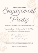 Engagement Party Invitation - garden