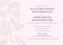 Wedding Invitations - garden