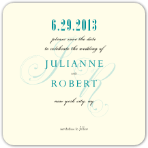 Save the Date Card - wedding lace