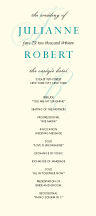 Wedding Program - wedding lace