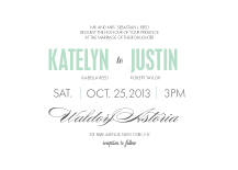 Wedding Invitations - the grand event