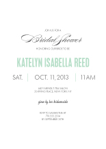 Wedding Shower Invitation - the grand event