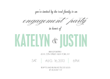 Engagement Party Invitation - the grand event